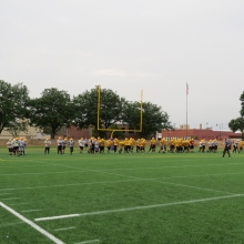 East High School Football returns to Breese Stevens Field, absent since 1975, with a scrimmage on August 8, 2015.