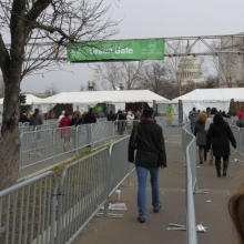 The Green Gate where ticket holders could stand in areas behind the seated crowd near the Capitol at the second Inauguration of President Barack Obama - January 21, 2013.