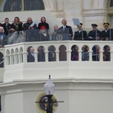 President Barack Obama speaks after being sworn-in for his second term.