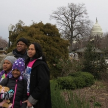 Many families attended the second Inauguration of President Barack Obama - January 21, 2013.