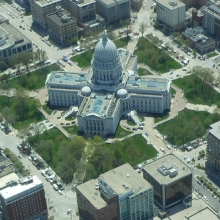 The Wisconsin Capitol in on a mid-spring day 2013. Courtesy: Jennie Masten