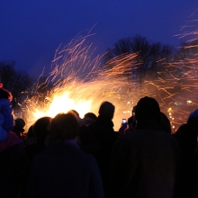 The 2015 Winter Solstice celebration at Olbrich Park on December 22, 2015.