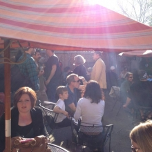 It feels like summer on the patio of Mickey's Tavern as they host an event May 10, 2012 during Madison Craft Beer Week.