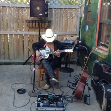 A local musician provides atmosphere at Mickey's Tavern on May 10, 2012 during Madison Craft Beer Week.