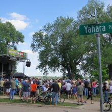 Thousands packed Yahara Place Park for the 25th Anniversary of the Marquette Waterfront Festival.