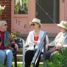 Park neighbors enjoy the music from the comfort of their own home.