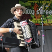 A Mother Falcon Accordion player.