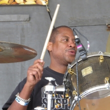 "New Orleans Suspects drummer ""Mean"" Willie Green who also hits the skins for the Neville Brothers Band."