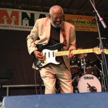 Wendell Holmes of The Holmes Brothers jams during the Orton Park Festival on Sunday, August 26, 2012.