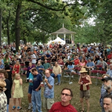 Light rain did not prevent a sizeable crowd from attending the afternoon and evening performances during the Orton Park Festival on Sunday, August 26, 2012.