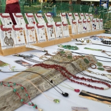 Approximately 10-12 vendors formed a bazaar on the southeast corner of the park selling mostly clothes and jewelry during the Orton Park Festival on Sunday, August 26, 2012.