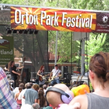 Lydia Loveless serenades the entire family at the Orton Park Festival, August 24, 2014.