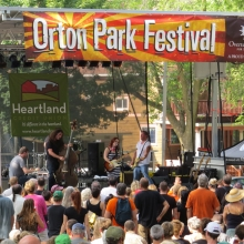 Lydia Loveless plays for nearly 700 people at the Orton Park Festival, August 24, 2014