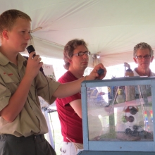 The local boy scout troop runs the kids games and bingo each year. Orton Park Festival, August 24, 2014