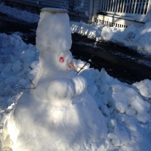 All things are equal in the Marquette Neighborhood, even the genders of snow people.