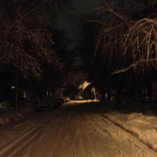 A view up the hill in the 1000 block of Jenifer Street, Thursday December 20, 2012.