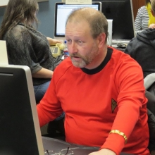 After the series was cancelled, a Star Trek worker volunteers his time for KVSC.
