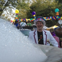 Bubbleman Jim Wildeman is ready to lead the parade.