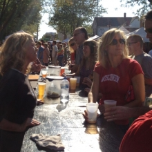 Beer sales are popular, and a major part of the fundraising that goes on during the Fair.