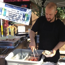 Vasilli's Take Five was serving up Gyros and other Greek delights at a furious pace.