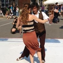 Antonio Testolin demonstrates Argentine Tango.