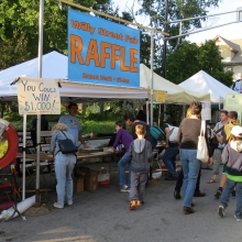 Over $200 prizes were awarded during the annual raffle to benefit Common Wealth Development and Wil-Mar Center at the Willy Street Fair, September 14, 2014.