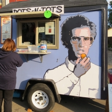 While few reports exist of the quality of the food, the visual of this food cart was a favorite on social media sites at the Willy Street Fair, September 14, 2014.