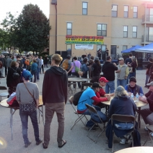 The Underground Stage between acts at the Willy Street Fair, September 14, 2014.