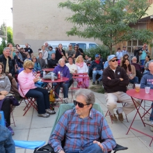The Folk Stage is always well-attended at the Willy Street Fair, September 14, 2014.