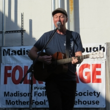 Own Mays performs at the Folk Stage at the Willy Street Fair, September 14, 2014.