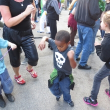 This young man had all  the moves at the Willy Street Fair, September 14, 2014.