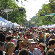 Looking East  from the 900 block during the Willy Street Fair, September 14, 2014.
