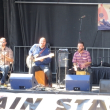 Golpe Tierra performs on the Main Stage at the Willy Street Fair, September 14, 2014.