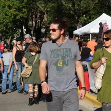 Despite the ominous message, the weather was great for both days of the Willy Street Fair September 19-20, 2015.