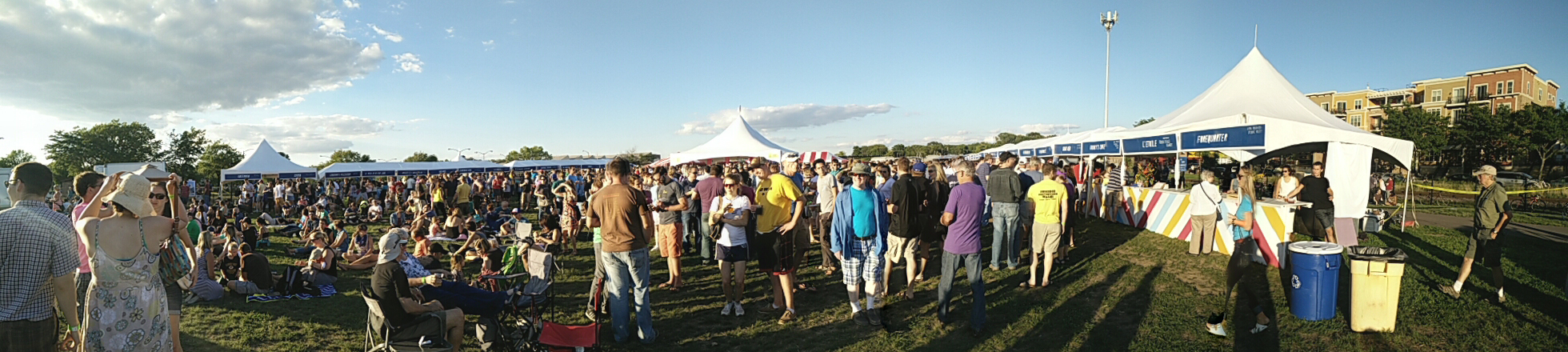 Panoramic view of Yum Yum Fest 2014.