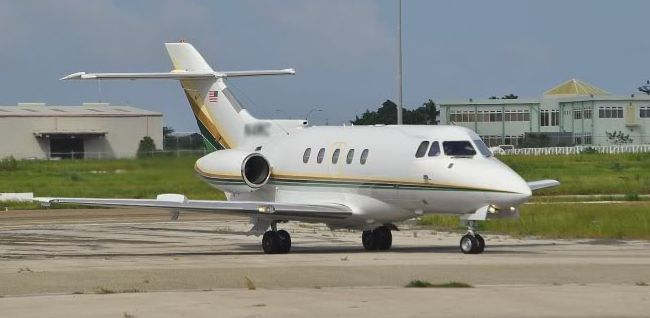 A Hawker-Siddeley HS125-400, similar to the one the author flew when the engine failed.