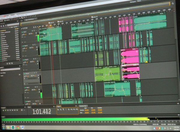 The Trivia intro is a massive effort. This is the final product as shown on a multitrack editing program.