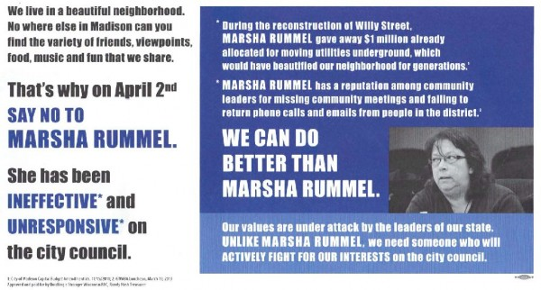 This mailer was sent to District 6 residents on Wednesday March 27, 2013.