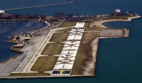 Meigs Field on the morning of the destruction. Current Mayor Rahm Immanuel ratified Daley's actions as recently as last fall when he announced new plans for the Northerly Island.