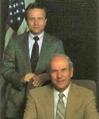 While they were never really close, Paul and his son Tom (left) ran the EAA from 1953 until 2011.
