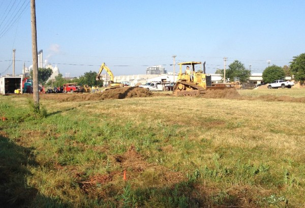 Bulldozers have been at the site of Central Park all week as construction finally begins on Phase I of the project