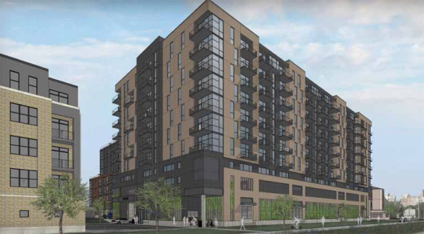 A view of the north side of the proposed development at 722 Williamson Street.