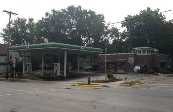 BP Gas Station owned by Lake Management, LLC. It was once a Clark station and the corner suffered from crime and drug activity.