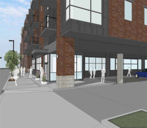 A ground-level view of the 4-story portion that will sit on Willy street. Courtesy: Baldwin Development Group
