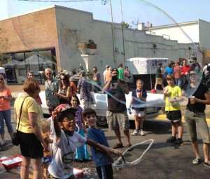 Its all about the kids, really. After the parade the bubble rings will be out all afternoon.