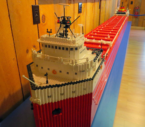 The story of the Edmund Fitzgerald has inspired song, prose, and art including this 18,000 piece 1:60 scale model by high school teacher John Beck. The project began in 2004 to teach his high school students about shipping. Nine years later it is almost complete.