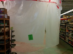 Depending on the day, various areas of the store appear to be shrouded in mystery.