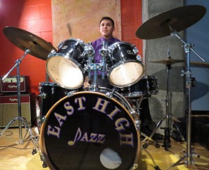 Juan Munoz plays the drums, just like his father who played in a band when he lived in Mexico.