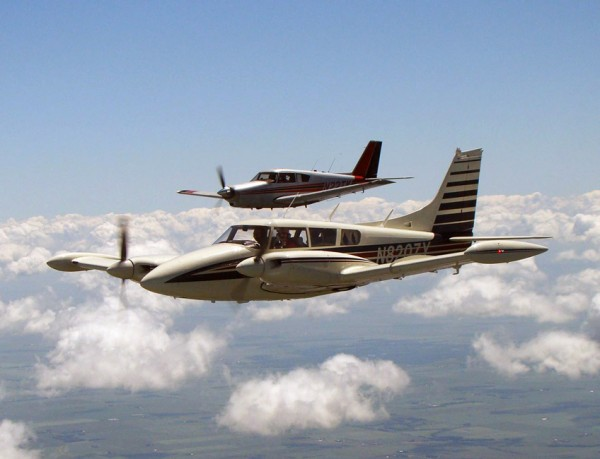 "Bid on a ride in ""Sage"" (foreground) owned by local commercial pilot Craig Henry. Photo by: Geoff Sobering"