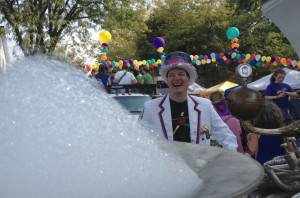 Jim Wildeman prepares to lead the parade in 2013.